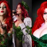Poison ivy Era Venenosa cosplay wall